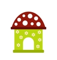 Toy house icon vector image