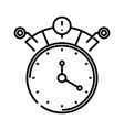 alarm line icon concept sign outline vector image