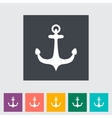 Anchor single flat icon vector image