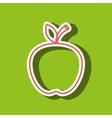 apple drawing isolated icon design vector image vector image