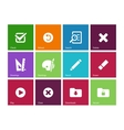 Application interface icons on color background vector image vector image