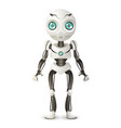 artificial intelligence future mechanical mascot vector image vector image