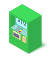 atm icon isometric 3d style vector image vector image