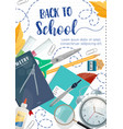 back to school poster ink pen lettering vector image