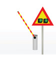 barrier with traffic light vector image vector image
