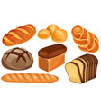 bread icons set vector image