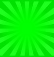 bright green rays background vector image