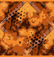 bright orange spotted geometric seamless pattern vector image