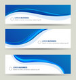 business banner wave set card brochure cover vector image vector image