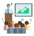 Businessman speech infographics vector image vector image