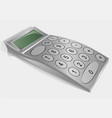 calculator on grey vector image