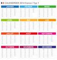 calendar 2014 french type 1