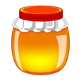 Capacity with honey vector image vector image