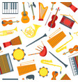 cartoon musical insrtuments background pattern on vector image