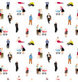 cartoon people pattern vector image vector image