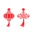 chinese symbols vector image vector image