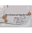 christmas light and snowflakes vector image