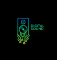 digital sound logo vector image vector image