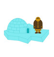 eskimo and igloo inuit isolated arctic vector image vector image