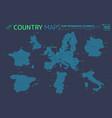 europe united kingdom france spain portugal vector image