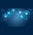 firework on blue background for christmas vector image vector image