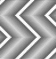 Flat gray with halftone textured chevron vector image