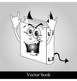 Funny book on grey background vector image vector image