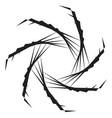 geometric spiral shape motif with circular vector image
