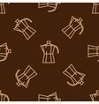 Geyser coffee maker pattern vector image vector image