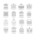 Government buildings lined signs Firehouse and vector image vector image