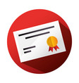 graduation diploma celebration icon vector image vector image