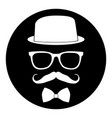 hipster icon stamp vector image vector image