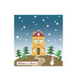 Holidays wishes card vector image vector image
