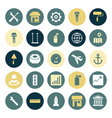 icons plain round industrial vector image vector image
