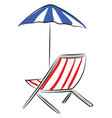 image beach-chair or color vector image