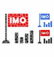 imo bar chart composition icon circle dots vector image vector image