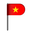 isolated flag of vietnam vector image