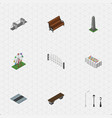 isometric city set of path highway street vector image vector image