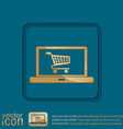 laptop with symbol shopping cart vector image