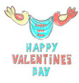 lettering happy valentines day stylized large vector image vector image