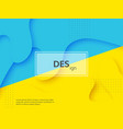 liquid abstract yellow and blue background vector image