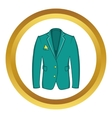 Mans green jacket icon vector image vector image