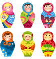 matryoshka set vector image