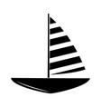 minimalist tattoo boho sailboat marine silhouette vector image vector image