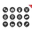Networking icons on white background vector image vector image