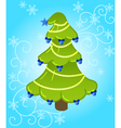 new year tree vector image vector image