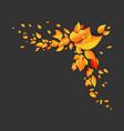 orange leaves corner vector image vector image