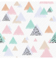 pastel design with triangles vector image