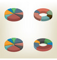 pie chart isometric vector image vector image