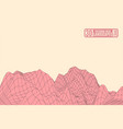 pink mountains on a yellow background vector image vector image